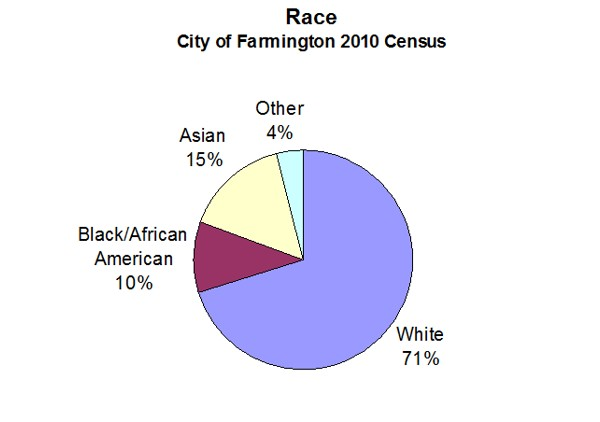 Race - City of Farmington 2010 Census